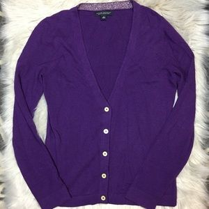 Banana Republic Italian yarn purple cardigan sz M